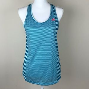 Adidas Climalite Blue Striped Tank Top Small